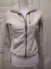 G-STAR RAW Ladies Cowhide leather jacket moto biker zip up Cream SZ S