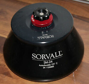 Sorvall-Zentrifuge-Centrifuge-Rotor-SM-24-mit-Deckel
