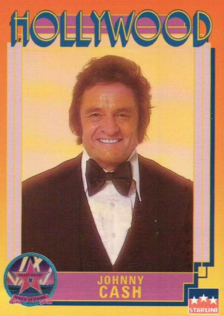Johnny Cash, Singer, Hollywood Star, Walk of Fame Trading Card --- NOT Postcard