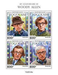 Togo-2020-Filmmaker-Woody-Allen-4-Stamp-Sheet-TG200148a