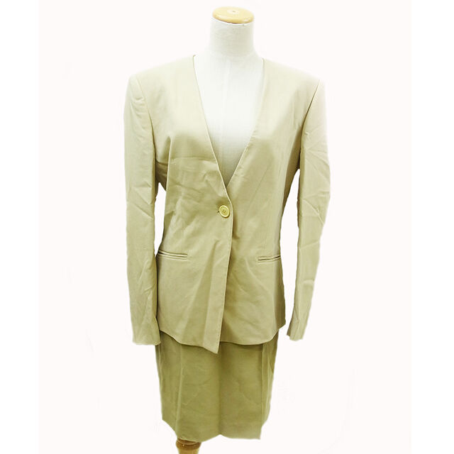 Emporio Armani Suits Blazers Beige Woman Authentic Used D367