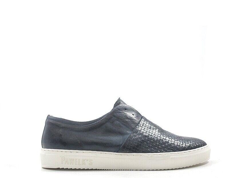 zapatos PAWELK'S Homme azul Cuir naturel 19650-BL