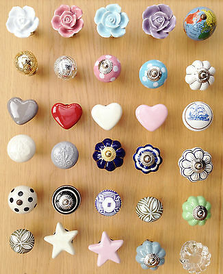 NEW GISELA GRAHAM CERAMIC DRAWER KNOBS DOOR KNOBS - CHEAPEST P&P FOR 4+
