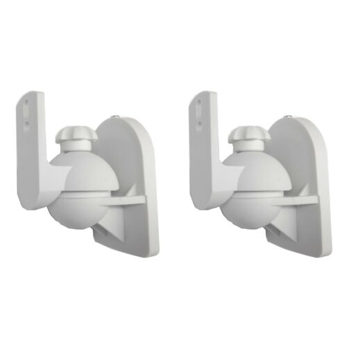Universal Satellite Speaker White Wall Mount Brackets for Bose 2 Pack Lot Pair