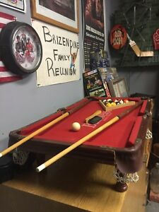 Image Is Loading Authentic Miniature Budweiser Pool Table