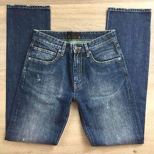 Ben-Sherman-Hampstead-Distressed-Tapered-Mens-Jeans-Size-30-Vintage-Gn-weft-N20