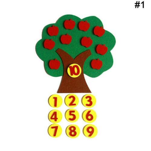 Montessori Teaching Aids Trees Math Toys Teaching Kindergarten manual DIY X6K6