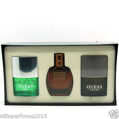 get new super cute genuine shoes Guess Cologne Gift Set for Men (Guess Man+Guess Suede+Guess Marciano EDT  Spray) 608940538661 | eBay
