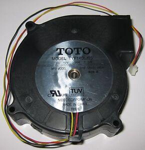 12 V DC TOTO Quiet Blower Fan - 103 x 100 mm - 2100 RPM - 7 Watt - TYF140LJ05