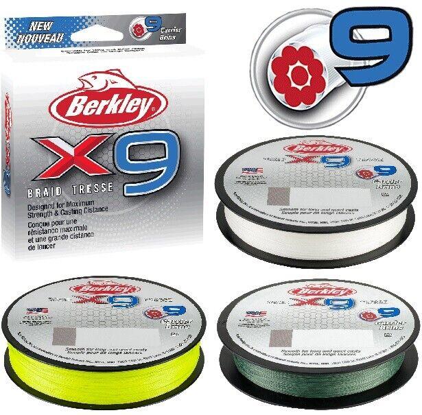 Berkley X9™ Angelschnur 150m-300m Originalspule alle Farben von 0,06mm-0,43mm  | Sofortige Lieferung