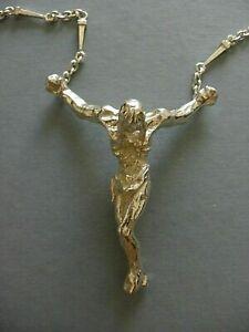 SALVADOR DALI SIGNED CHRIST SILVER NECKLACE & BRACELET NUMBERED CERTIFICATE NEW