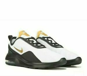 Details about nike air max black white gold max motion 2 running rare  colorway men's sizes new