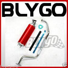 Exhaust Pipe + RED Alloy Muffler GY6 150cc 200cc Quad Dirt Bike ATV Dune Buggy