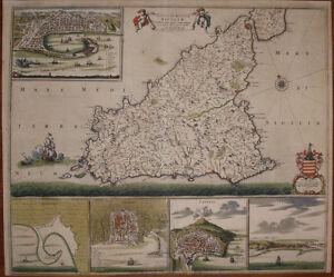 Stampa Cartina Sicilia.Stampa Antica Sicilia Frederic De Wit Italia Sicily Mappa Carta Geografica 1680 Ebay