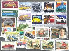 Cars 300 francobolli tutti diversi raccolta-INC. CAMION, AUTOBUS, tutti i veicoli motorizzati