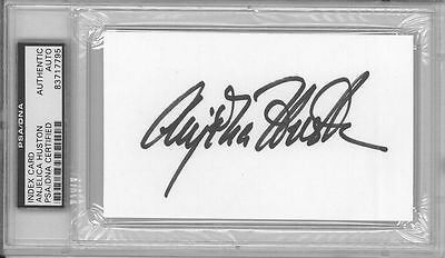 Cards & Papers Anjelica Huston Signed Authentic Autographed 3x5 Index Card Slabbed Psa/dna Latest Technology Movies