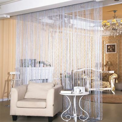 Curtain W1xL2m Line Blinds Fringe Door Window Divider String Flash Home Decor
