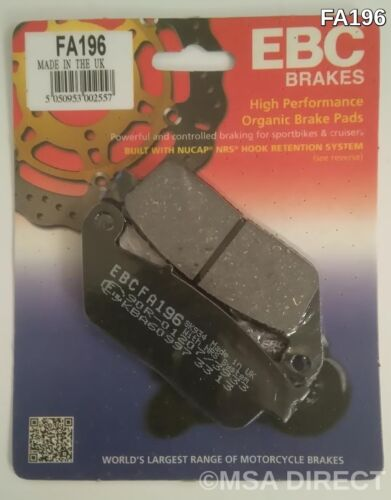 1 Set Honda GL1500 F6C Valkyrie EBC Organic REAR Disc Brake Pads FA196