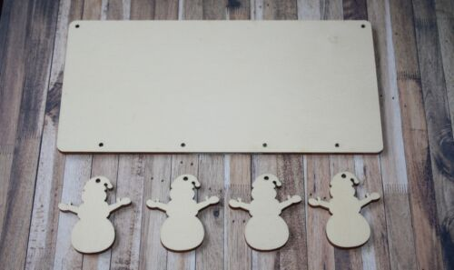 3 2 single rectangle plaque with choice of 1 5 hanging christmas snowmen 4