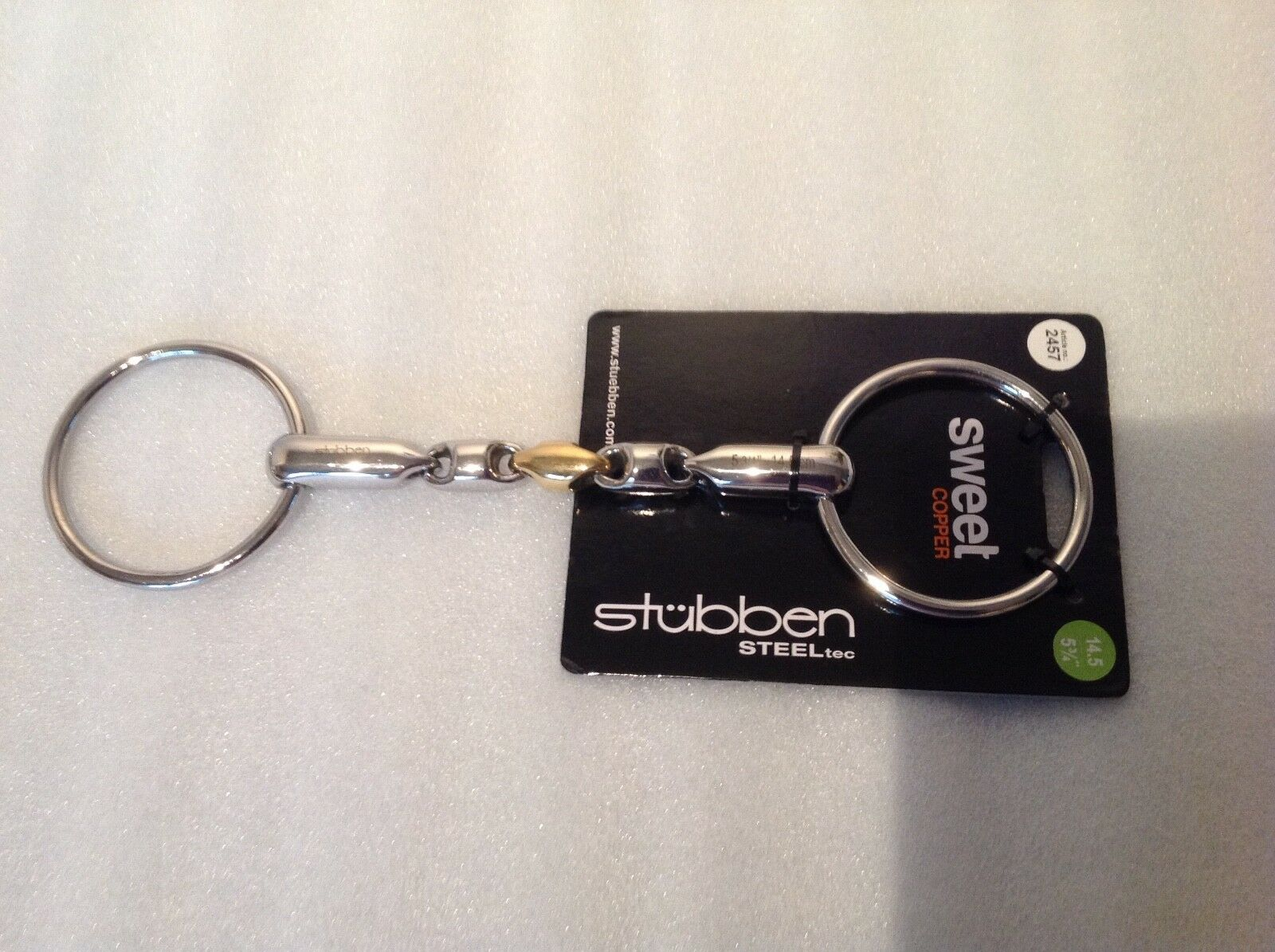 Stubben 2457 Waterford Copper Link Loose Ring Snaffle Bit   5   good price