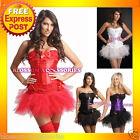 1121 Burlesque Moulin Costume CORSET Bustier Tutu Skirt