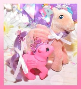 My-Little-Pony-MLP-G1-Vtg-MOMMY-amp-BABY-North-Star-So-Soft-First-Tooth-Lot