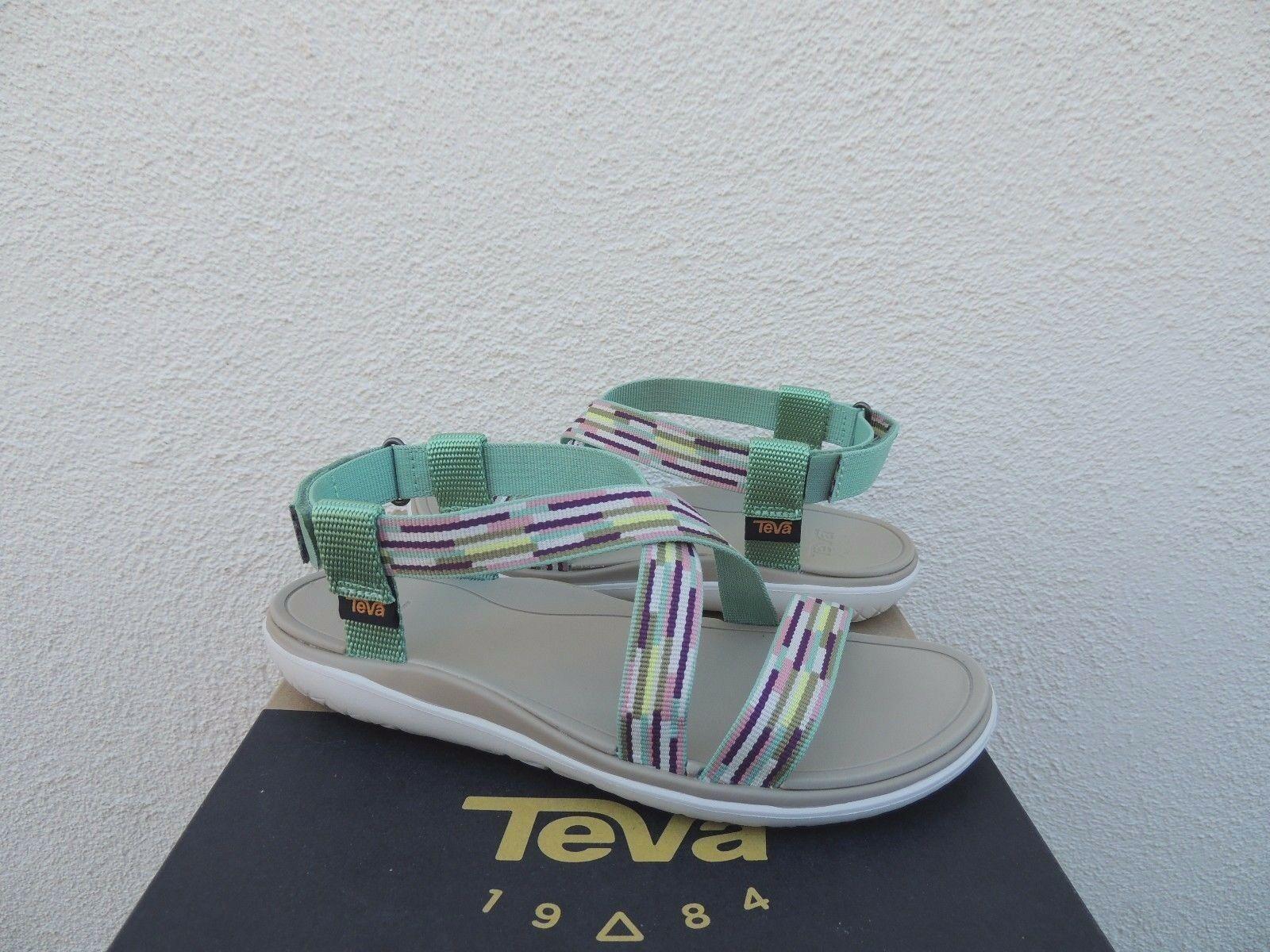 TEVA TERRA-FLOAT LIVIA TACION AQUA ADJUSTABLE SANDALS, US 8.5  EUR 39.5 NIB