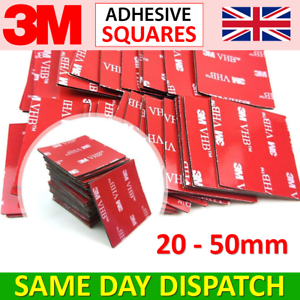 3M™ Double Sided Sticky Pads - Adhesive Tape Dash Cam/GoPro Sticker Mounts