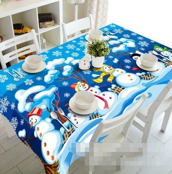 3D Snowman 779 Tablecloth Table Cover Cloth Birthday Party Event AJ WALLPAPER AU