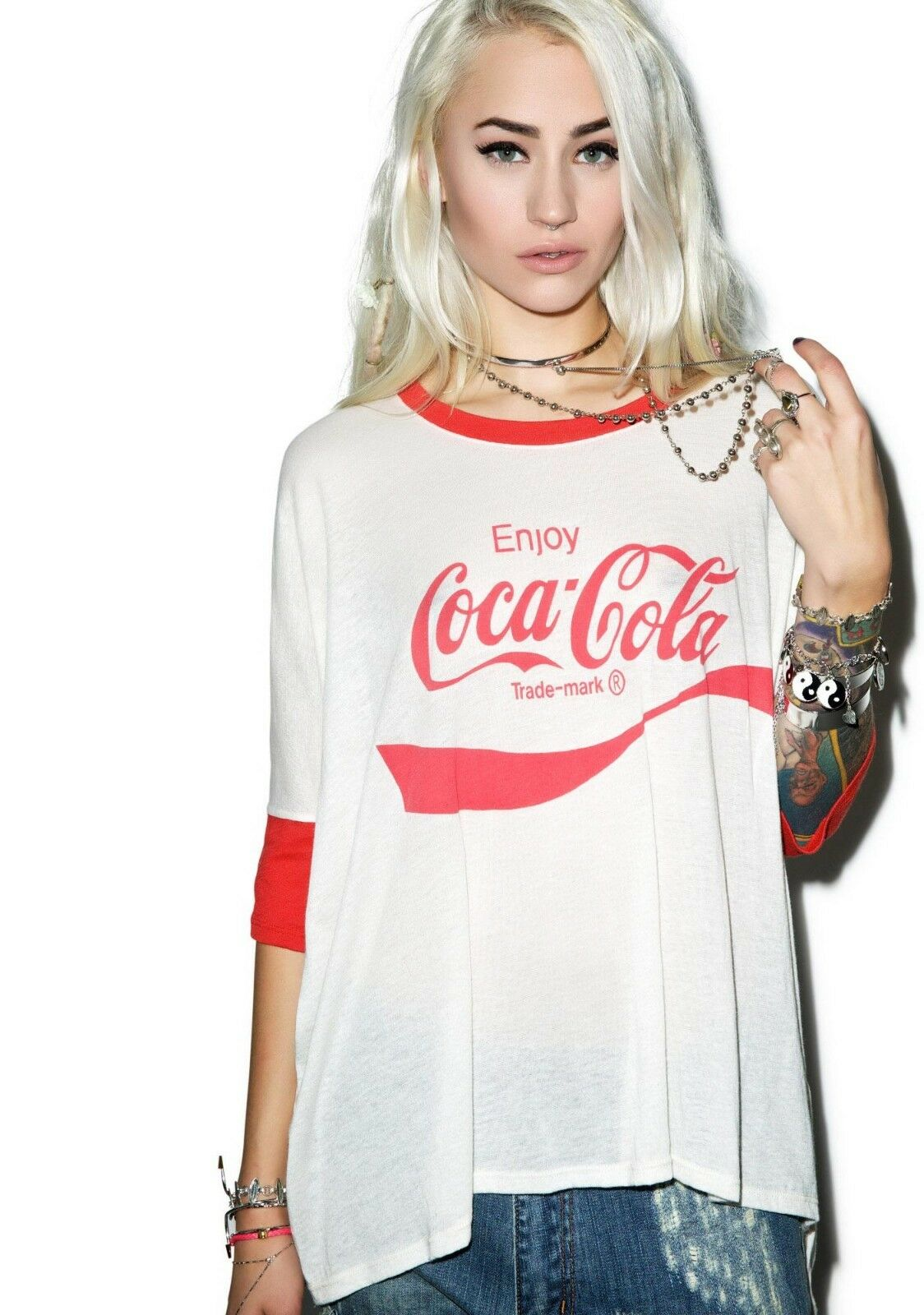 Wildfox women's t shirt, coca cola sunny morning, oversized, tee, s. xs, s, m