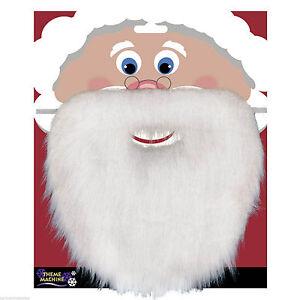 Christmas-Santa-White-Fake-Beard-Unisex-Fancy-Dress-Xmas-Party-Accessory