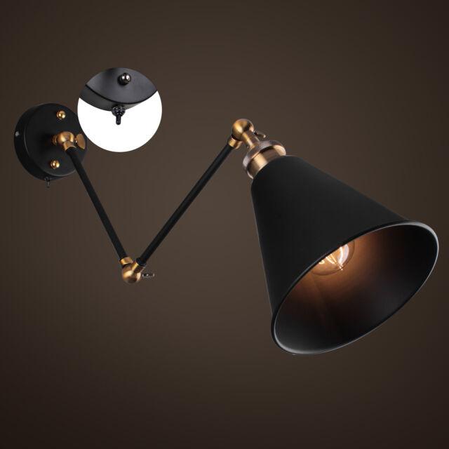 Vintage Industrial Adjustable Swing Arm Light Sconce Wall Lamp Fixture Home Loft