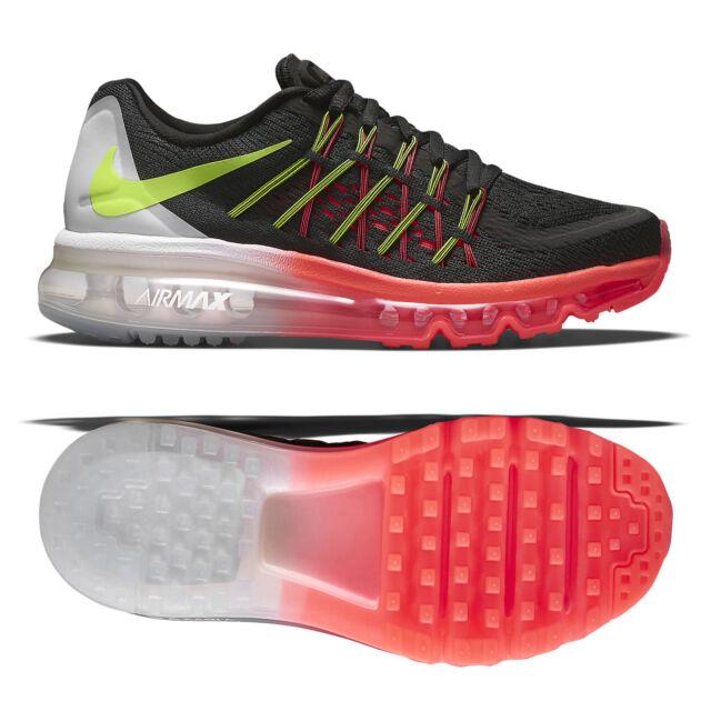 newest 0be0a f39bc Nike Air Max 2015 (GS) Black Volt Hot Lava White 705457