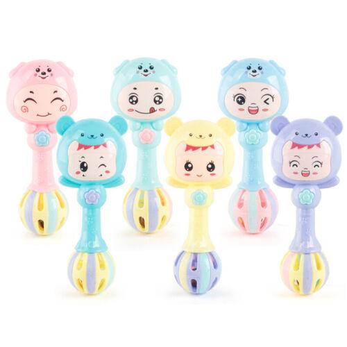 1 Pcs Baby Cute Rattles Toy Soft Handbells Newborn Toy Cute Cartoon Ring Bell