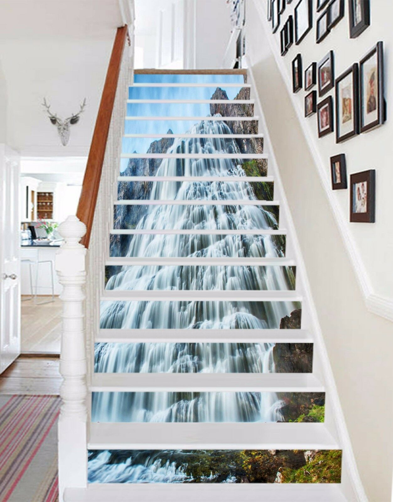 3D Mountain Falls 437 Risers Decoration Photo Mural Vinyl Decal Wallpaper CA