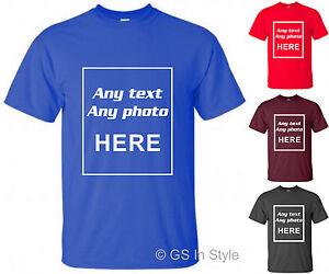 117e1645221d Das Bild wird geladen Benutzerdefinierte-Photo-T-Shirt-bedrucken- Personalisierte-Stag-Hen-