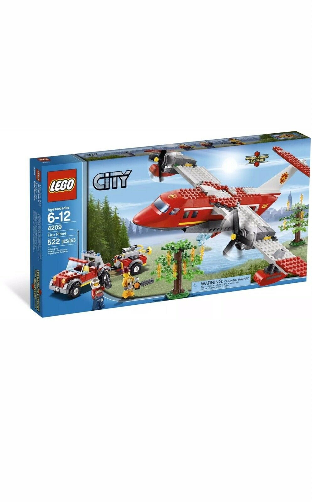 Lego Ciudad 4209 Avión De Fuego Nueva Sellada Caja retirado