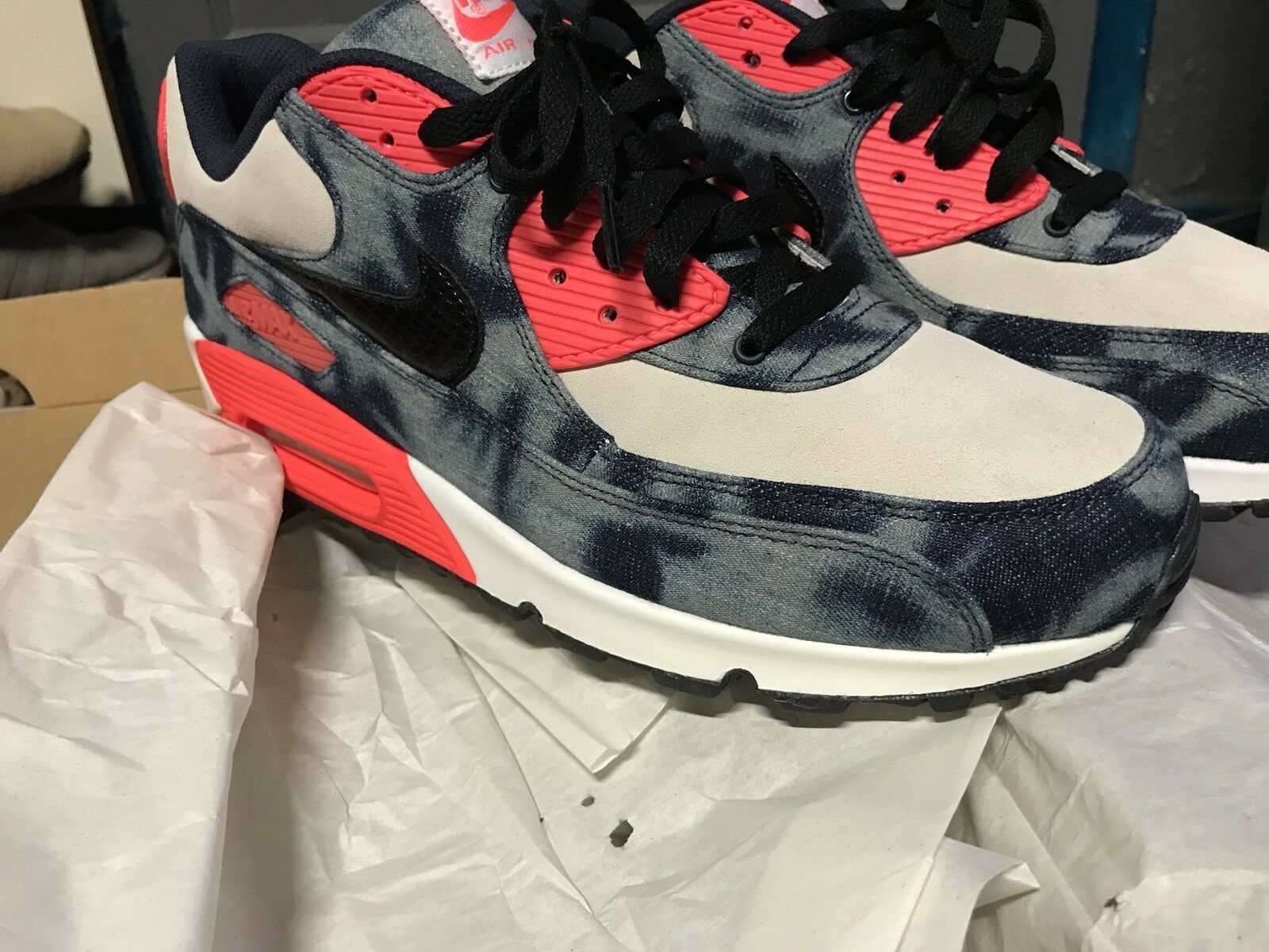 391ff63a3b Brand New Nike 90 ATMOS Bleached Denim Sz 11 Air Max nvyuga5321 ...