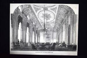 Circolo-Marina-Navale-Pall-Mall-Londra-Inghilterra-Lo-studio-Incisione-del-1851