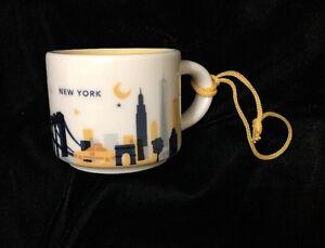 Starbucks-New-York-Mug-Demi-Ornament-You-Are-Here-Brooklyn-Empire-NY-YAH-UK-Post
