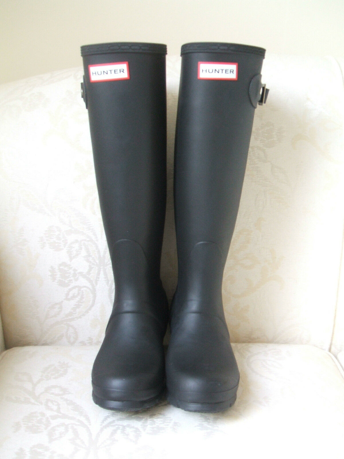 SIZE 2 3 WELLINGTON ADULT HUNTER ORIGINAL TALL BLACK GREEN WELLINGTON 3 Stiefel WELLIES 4f41f3