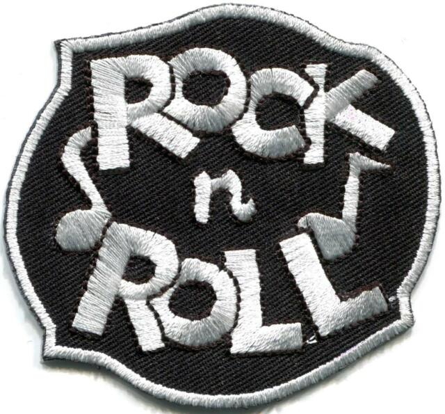 Rock n Roll biker retro slogan rockabilly music applique iron-on patch new G-52