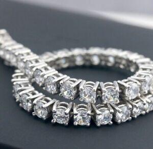 7-00-Ct-Diamond-Tennis-Bracelet-7-034-Inch-1-Row-Round-Diamonds-14K-White-Gold