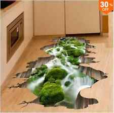 3d Stream Floor Decor wall sticker Removable mural Decals vinilo tipo Home decorat