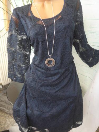Damen Kleid Junarose Spitzenkleid Gr S//42 bis XL //  58 Blau NE 401