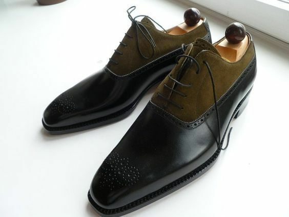 Zapatos para hombres dos tonos extremo de ala, Para Hombre de Moda Vestido Formal Zapatos, hombres Laceup Zapatos