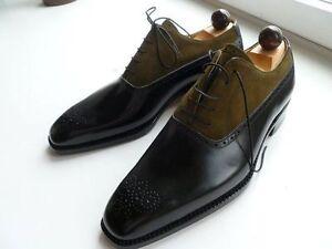 Hommes-Bout-d-039-aile-deux-tons-chaussures-homme-fashion-Lacets-Formelle-Chaussures-Hommes