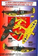 KORA Decals 1/72 SUPERMARINE SPITFIRE F.Mk.VB British Aircraft in German Hands