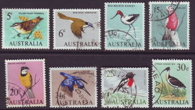 1966 DECIMAL BIRDS SET OF 8 - VERY FINE USED (S0005)