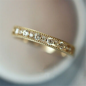Fashion-White-Sapphire-Zircon-Thin-Rings-Gold-Silver-Promise-CZ-Wedding-Jewelry